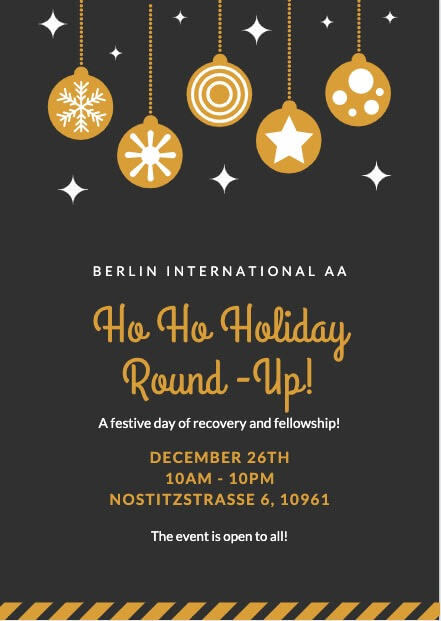 Holiday Round Up 2019 Flyer - Front